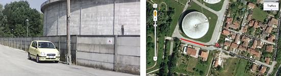 Via Maffi Padova, Muro Palestra Urbanizme