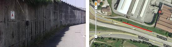 Via Pellico Padova, Muro Palestra Urbanizme