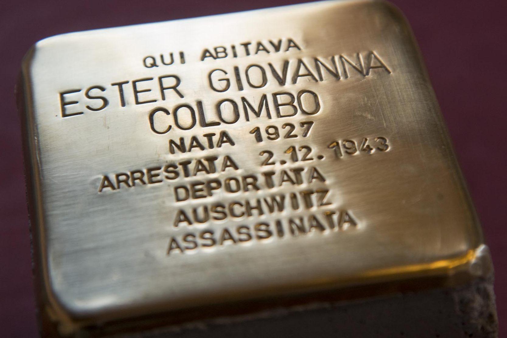 Ester Giovanna Colombo - pietra d'inciampo